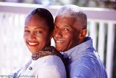 A mature couple; Size=240 pixels wide